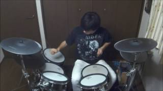 Stratovarius - Against The Wind (Drum Cover by 16 Year Old Drummer Shion)