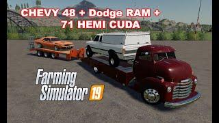 CHEVY 48 + DODGE RAM 250 + 71 HEMI CUDA | APRESENTADO MODs | FS19
