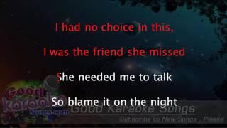 Blame -  Calvin Harris (Lyrics Karaoke) [ goodkaraokesongs.com ]