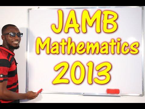 JAMB CBT Mathematics 2013 Past Questions 1 - 17