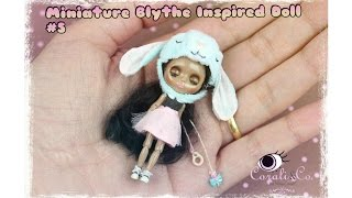 Miniature Blythe Inspired doll #5 (Handmade miniature articulated doll)