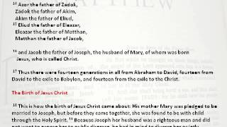 Book of Matthew, NIV Edition Chapter 1