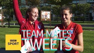 Team-mates' Tweets: England's Jill Scott & Siobhan Chamberlain - BBC Sport