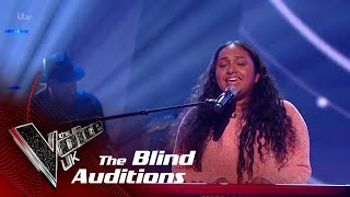 Gayatri Performs 'Powerful': Blind Auditions   The Voice UK 2018