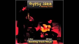 Gypsy Jazz Backing Track In A Minor [250bpm] HIGH QUALITY