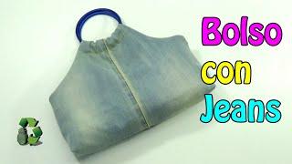 125. Manualidades: Como hacer Bolso con jeans viejos (Reciclaje) Ecobrisa.
