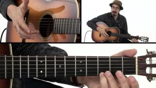 Beginner Fingerstyle Blues Lick #1 - Guitar Lesson - David Hamburger