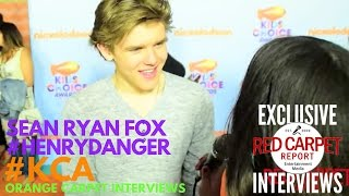 Sean Ryan Fox #HenryDanger interviewed at 2017 Kid's Choice Awards Red Carpet #KCA