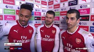 Aubameyang, Mkhitaryan and Aaron Ramsey speak to BT Sport