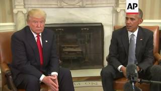 Obama meets Trump at White House