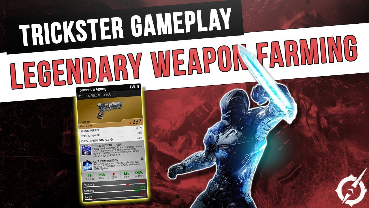 Outriders Legendary Weapon Farming and Trickster Gameplay