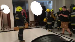 Bombeiros do Estoril - Sessão Fotográfica - BTS - Making of !