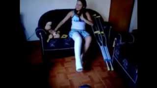 llc girl with crutches