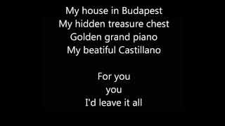 Budapest - George Ezra | Lyrics Video | HD