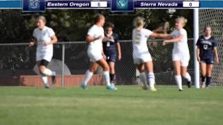 EOU Women's Soccer vs. Sierra Nevada Highlights (8/29/15)