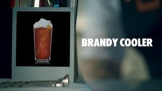 BRANDY COOLER DRINK RECIPE - HOW TO MIX