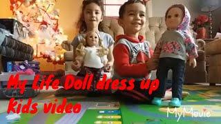 My Life Doll | dress up with Alisha and Chance | kids video