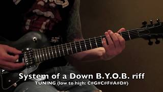System of a Down - BYOB Main Riff - Guitar Lesson