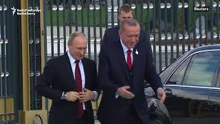 Erdogan Welcomes Putin On Ankara Visit