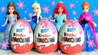 Kinder Ovos Surpresa Princesas Disney Fadinhas Barbie Disney Frozen Completo em Portugues BR PT