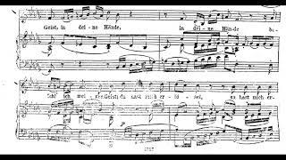 J.S Bach In Deine Hände Piano accompaniment - Gottes Zeit BWV 106