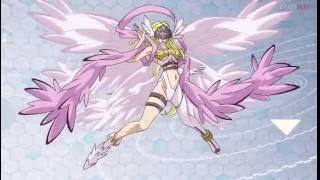 Gatomon digievoluciona a Angewomon - Digimon Adventure tri. 'Confesión'.