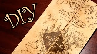 Harry Potter Marauder's Map - DIY