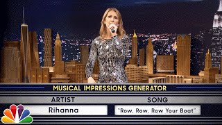 Wheel of Musical Impressions with Céline Dion width=