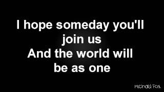 Taio Cruz - Imagine (John Lennon Cover) [Lyrics on Screen] M'Fox