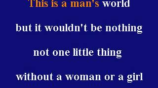 James Brown -  This Is A Man's World - Karaoke