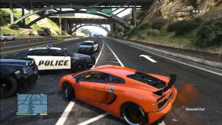 GTA 5 LAMBORGHINI VS POLICE PURSUIT REAL Life