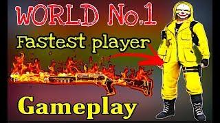 World No 1 FASTEST PLAYER Free Fire | One Shot Headshot King