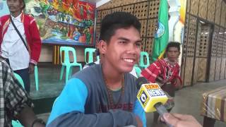 child warrior asinad bago singing the NPA version of Lupang Hinirang