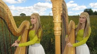 AMAZING GRACE - Harp Twins - Camille and Kennerly