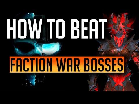 RAID | HOW TO BEAT FACTION WAR BOSSES!
