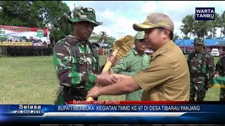 Wartatanbu com   Bupati Buka TMMD Ke 97 Desa Tibarau Panjang width=
