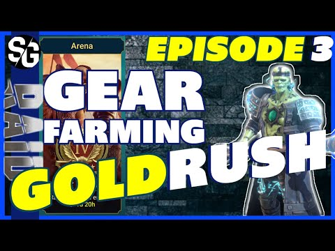 RAID SHADOW LEGENDS | GOLDRUSH EP3 Farming gear.