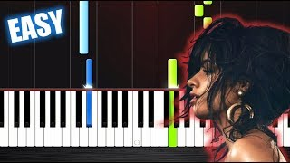 Camila Cabello - Havana - EASY Piano Tutorial by PlutaX