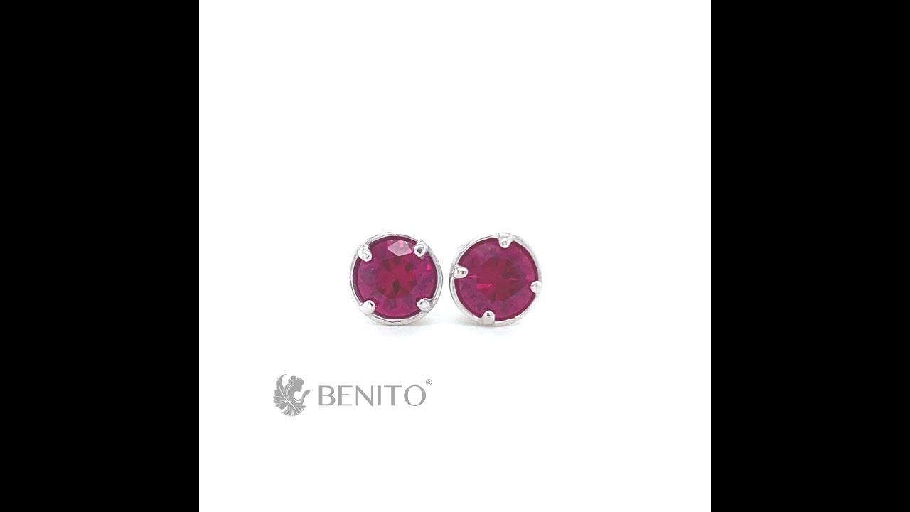 Emma Earrings Red Ruby Stone