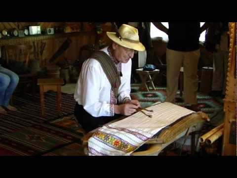 Roman Kumlyk from Ukraine Plays Dulcimer Covered with a Towel
