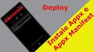 Deploy | App que Instala Appx e Appx Manifest sem Interop Tools