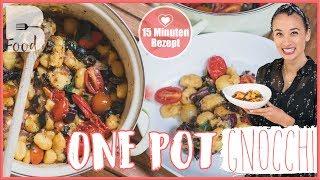 One Pot Gericht - Gnocchi schnell zubereiten - 15 Minuten Essen ohne Schnitt