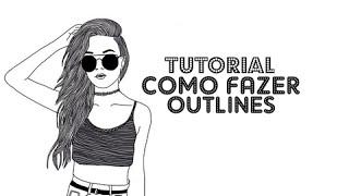 Como fazer outlines tumblr