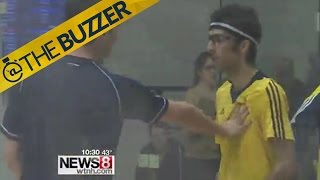 College squash players get into fight after match (kind of)
