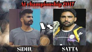 Sidhu Vs Satta    Khanjarwal Vs Salemsha    At Pvsap championship 2017    end match width=