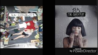 Chandelier/The greatest by sia Acapella (Vocals only)