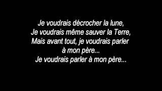 Céline Dion - Parler à mon père (Lyrics-Paroles)