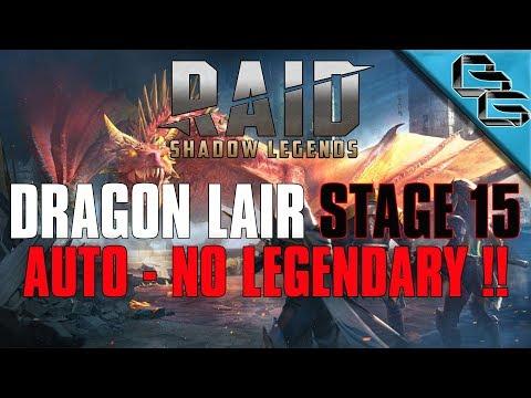RAID: Shadow Legends | Dragon's Lair Stage 15 on Auto | NO LEGENDARY!! | F2P