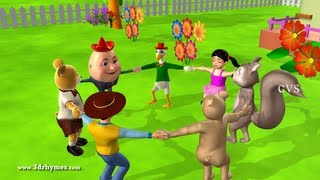 Ringa Ringa Roses - 2 ( Animals ) - 3D Animation English Nursery rhymes For children