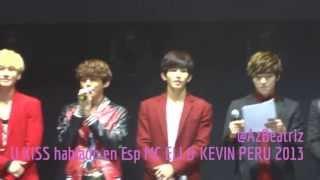 U-KISS (유키스) hablado en Español - MC ELI & KEVIN PERU 2013